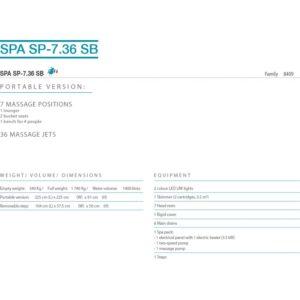 Spécifications Jaccuzzi SPA - SP - 7.36 SB BPL International