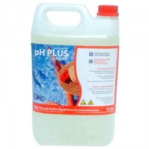 PH plus liquid - 5L pour augmenter le PH de l'eau de piscine