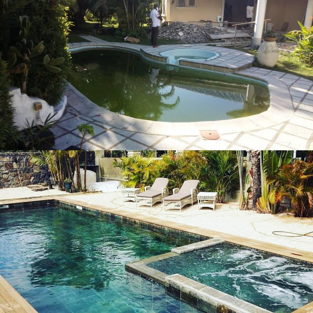 Renovation d'une piscine – Avant / Après – Réalisée par BPL International