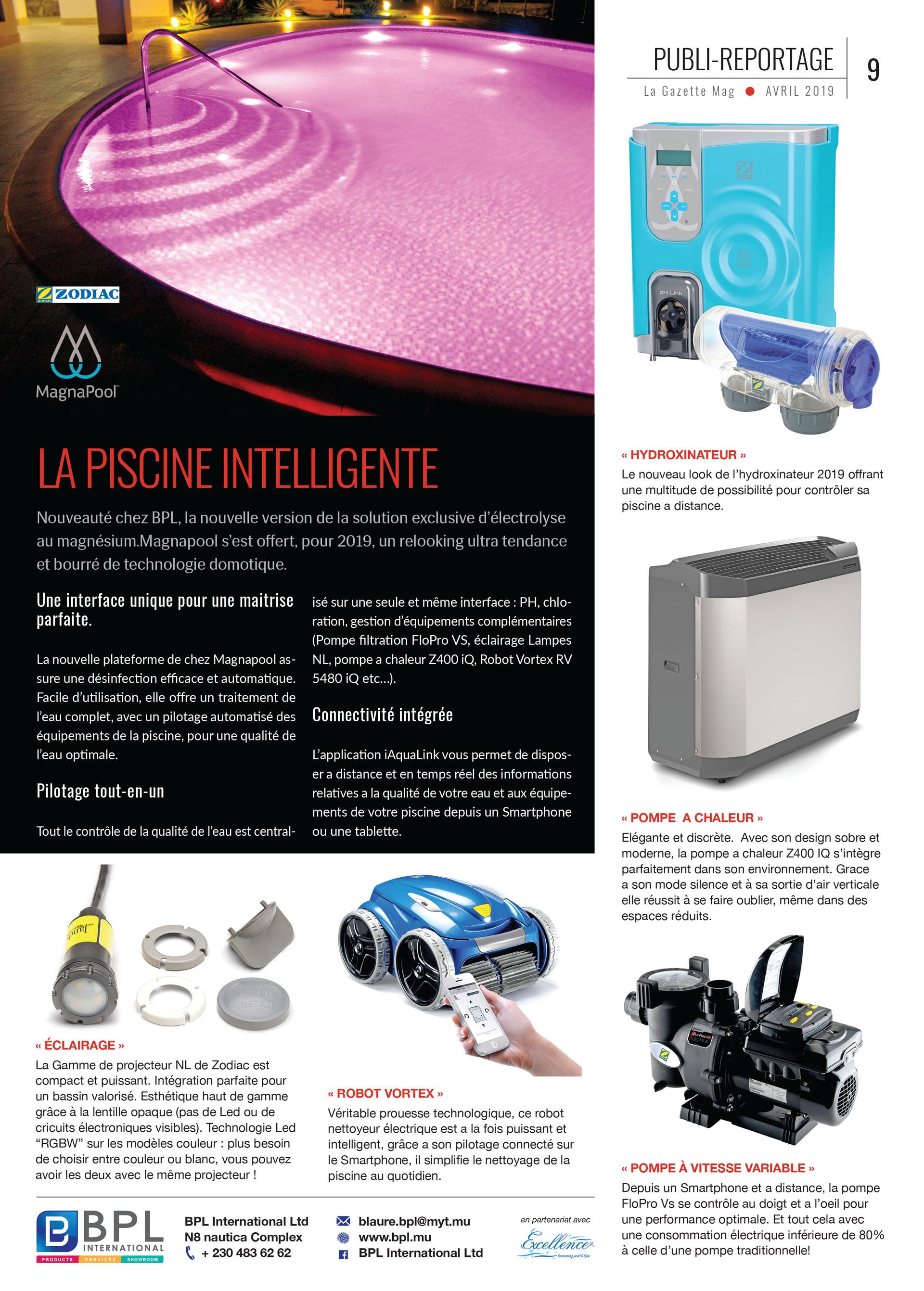 BPL dans La Gazette Mag