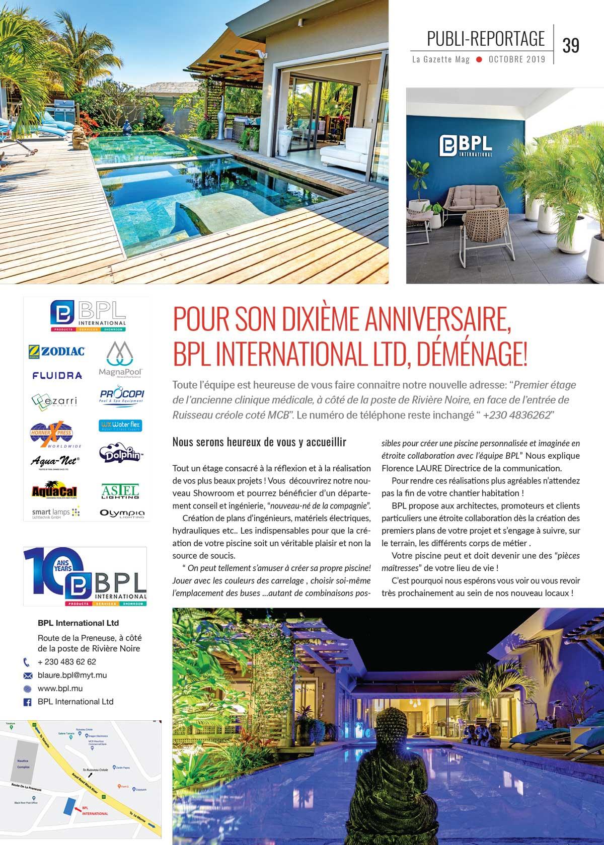 Publi reportage La Gazette Mag octobre 2019